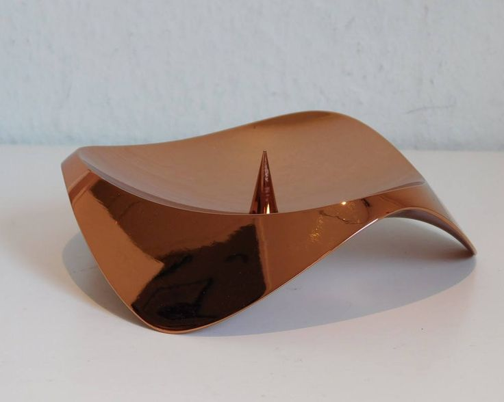Stelton Papilio Uno candle holder - copper by SilverfernDK on Etsy
