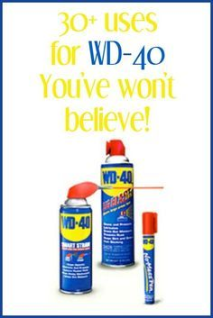 Over 30 Uses for WD-40  around your home you won't believe and read the comments for even more