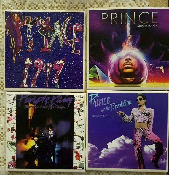 Prince album covers handmade tile coasters. These would be a great gift for any…