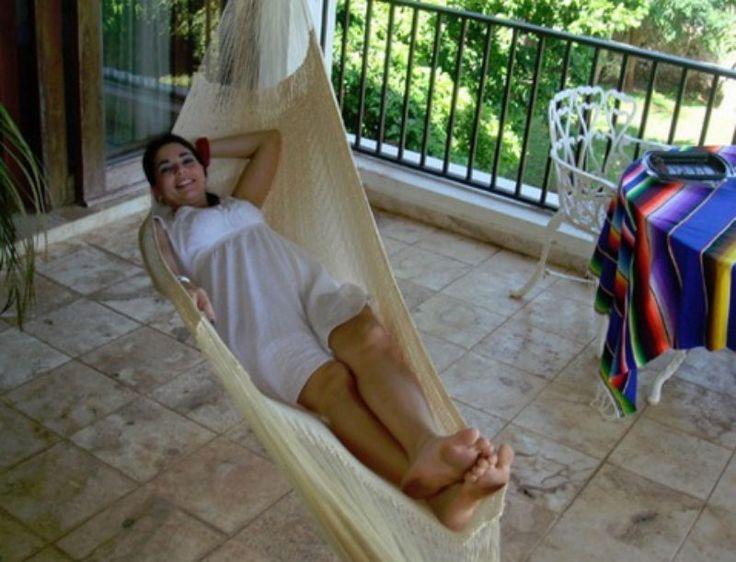 Single Mayan Hammock Indoor Outdoor Comfortable Durable Hand Made Natural Color #hammock