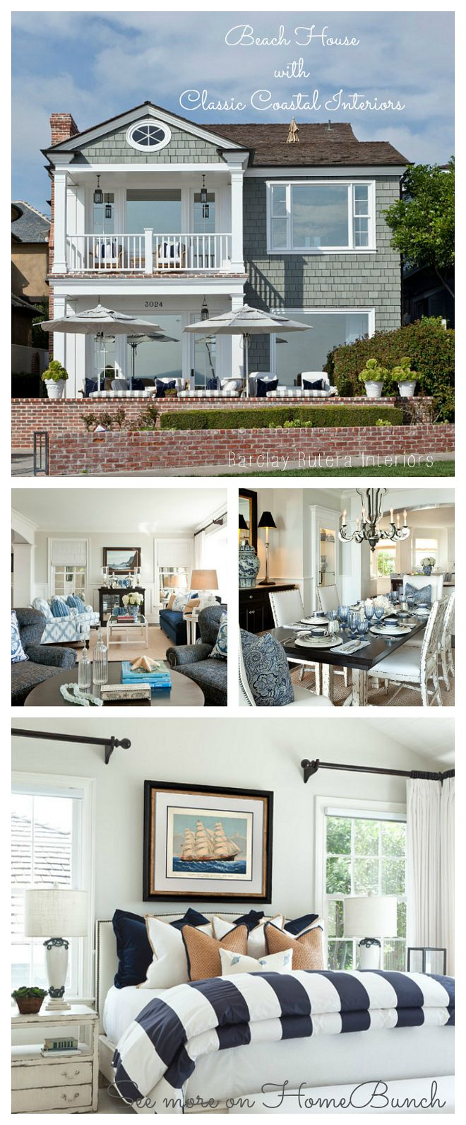 Beach House with Classic Coastal Interiors by Barclay Butera Interiors