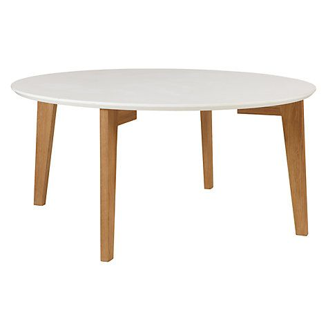 Buy House by John Lewis Abin Coffee Table White / Oak Online at johnlewis.com