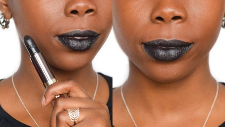Urban Decay Perversion Vice Comfort Matte Lipstick - Review and Dark Skin Swatch - Epiphanniea.co.uk -  @Epiphanniea - Black Lipstick