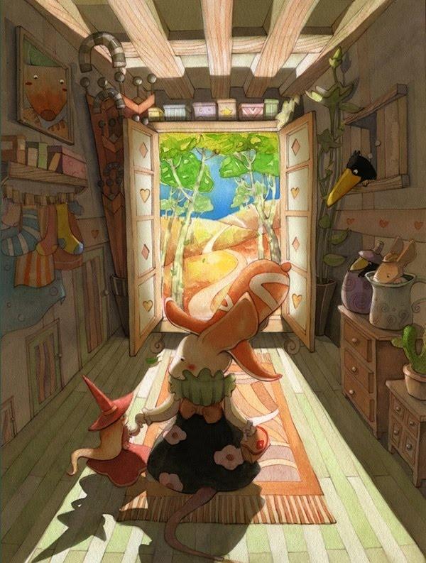 Illustrations by Sim Kyoung Sick, Korean Artist