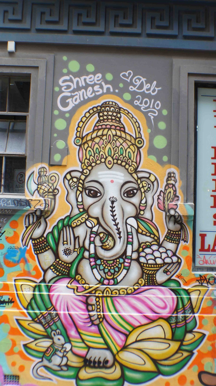 Graffiti art for sale melbourne - Ganesh By Deb Street Art Hosier Lane Australia