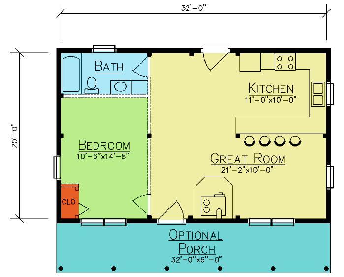 Musquash floor plan from ward cedar log homes log for Cedar cabin floor plans