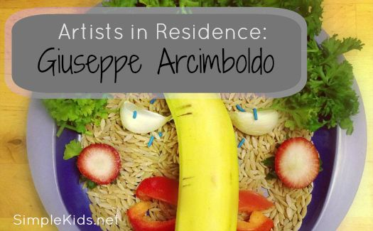 Arcimboldo Art - as part of the artists in residence series - this looks like so much fun!  (Simple Kids)