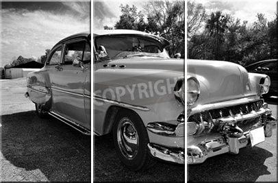 Leinwandbild Classic Car (3-teilig)