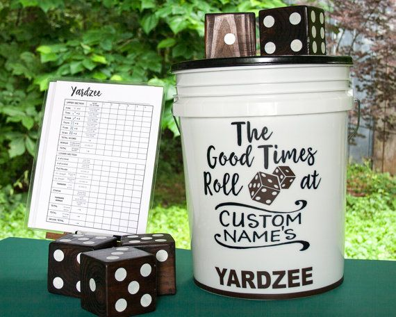 Giant yahtzee! Outside, (or inside!) game. Graduation, wedding, new home, hostess gift, fun for the family... Keepsakes arent manufactured they are made. Giant yahtzee! Indoor (on carpet/rug), & outdoor on grass or soil/sand.  Engaging & fun game for Thanksgiving gatherings, & Christmas gifts. Handmade by my expert wood worker husband, Johnny, and me. A set of 5 3.5x3.5 solid dice crafted using wood from sustainable forests. Dice joyfully & meticulously constructed. Dots painted using…