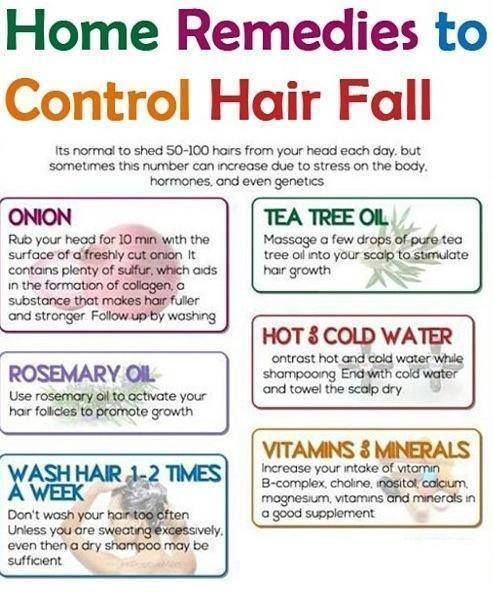 It's normal to shed 50-100 hairs from your head each day, but sometimes this number can increase due to stress on the body, hormones and even genetics. Here's some excellent home remedies to help control hair fall...