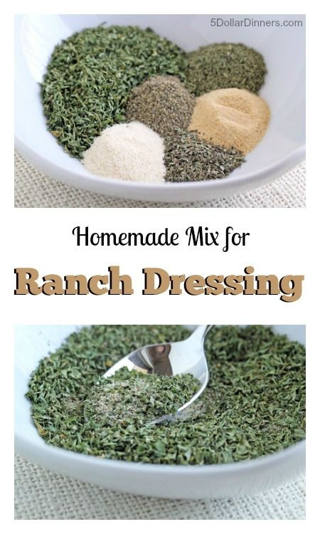 Save money and control the taste and ingredients with this easy recipe for Homemade Ranch Dressing Mix | 5DollarDinners.com