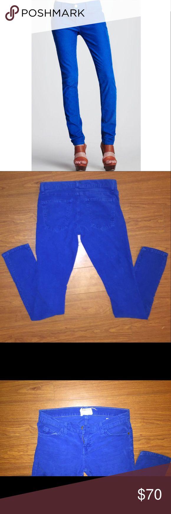 Current/Elliot The Skinny Electric Blue Cord Super cute and comfy electric blue corduroy skinny jeans Current/Elliott Pants Skinny