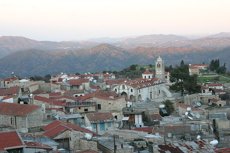 """Lefkara (Greek: Λεύκαρα) is a village on the island of Cyprus famous for its lace, known as lefkaritika in (Greek: λευκαρίτικα) and silver handicrafts. The village takes its name from the white of its silica and limestone: Lefkara is derived from a combination of the Greek words """"lefka"""" (Greek: λευκά, Translation: white) and """"ori"""" (Greek: όρη, Translation: mountains, hills)."""
