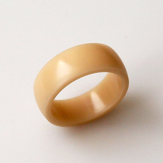 Beige ring Corian ring Band rings Round ring Round by BDSart