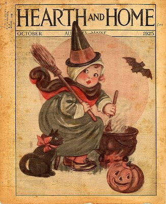 A Nostalgic Halloween: Cute Witch Magazine Cover