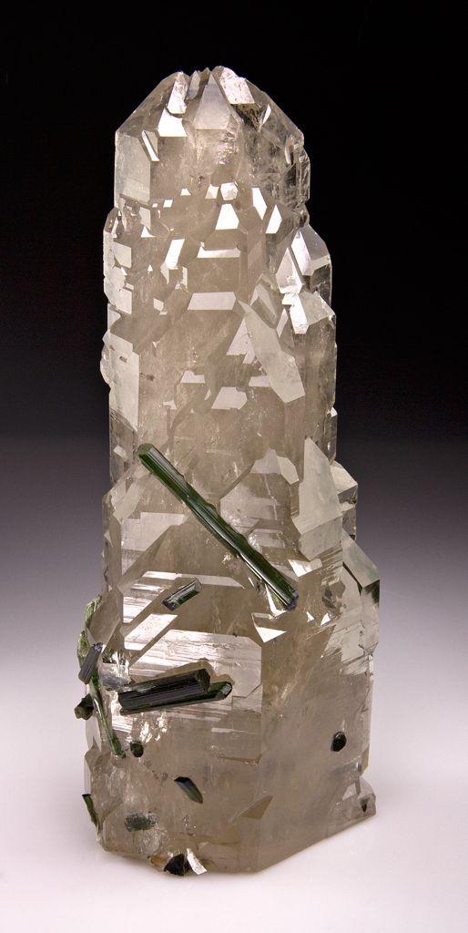 Elbaite with Quartz      via Stonefinder