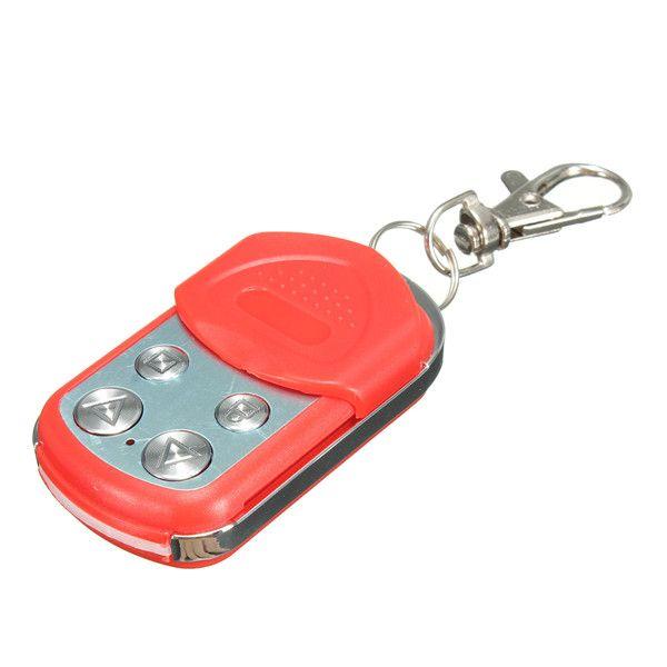 4 botones de garaje eléctrica puerta puerta de control remoto 433mhz clave fob clonación roja
