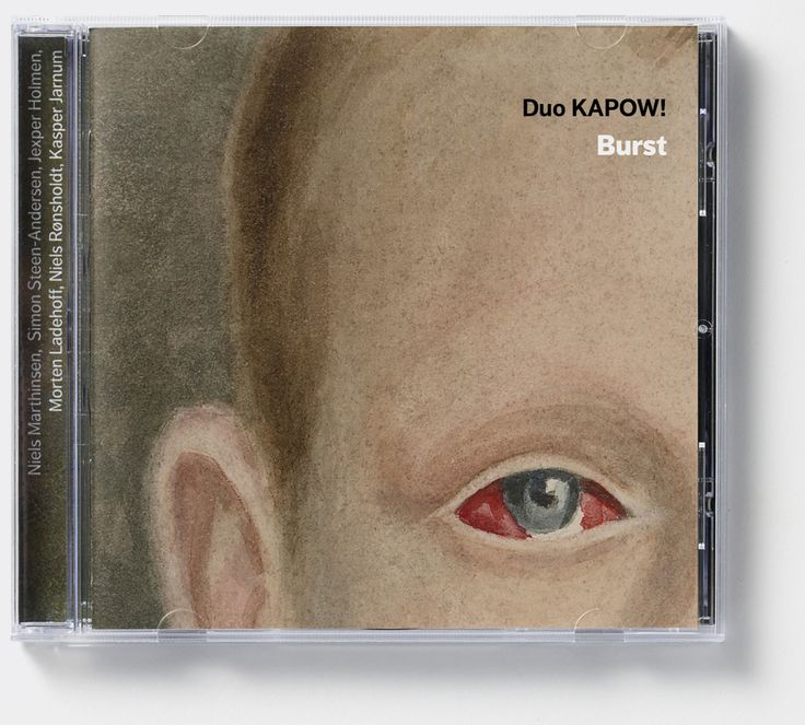 Duo Kapow! 'Burst' (Dacapo Records). Album cover art: Denise Burt. Read the story about how the cover artwork was designed on http://seeingnewmusic.com/story/burst/?cat=featured&term=&offset=16  #albumart  #artmusic  #contemporaryclassical