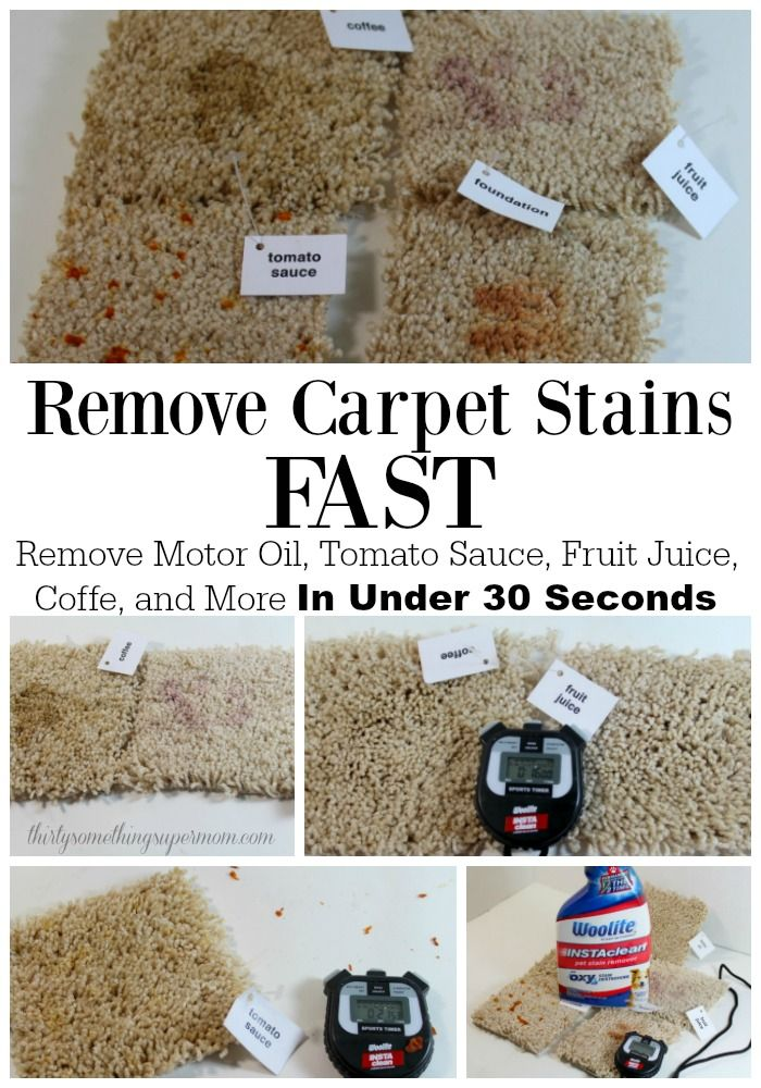 Remove Carpet Stains from things like coffee, fruit juice, and so much more in under 30 seconds!!! #ad #cleaning #carpet #removecarpetstains