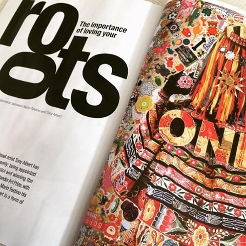 Queensland College of Art, Griffith University, Contemporary Australian Indigenous Art Alumnus Tony Albert featured in Vogue Australia in collaboration with Mario Testino.