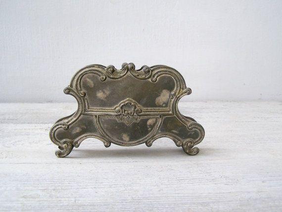 Antique Victorian Napkin Letter Holder Art Nouveau by MeshuMaSH, $45.00