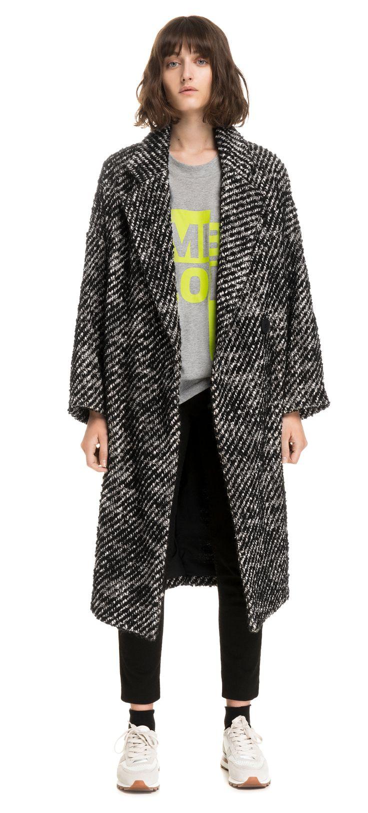 Manteau oversize bicolore | BIMBA Y LOLA ®