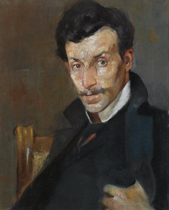 Nikolaos Lytras (Greek, 1883-1927), Portrait of the Painter Gerassimos Dialismas. Oil on canvas, 56 x 45cm., 22 x 17¾in.