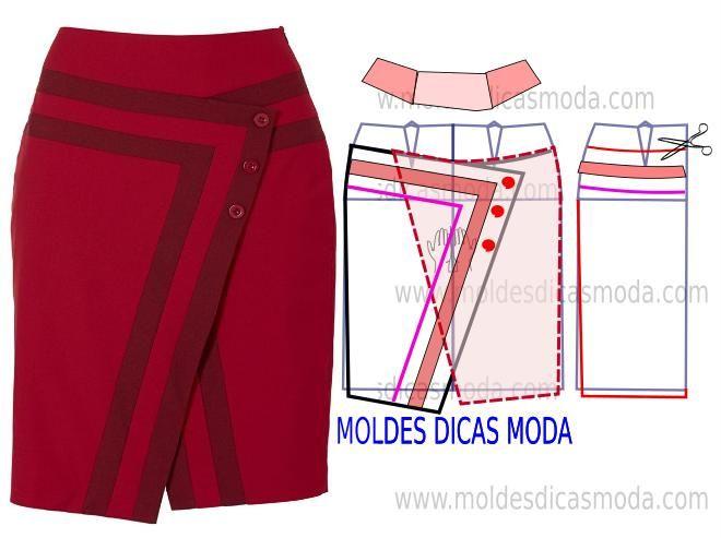 MOLDE DE SAIA LÁPIS