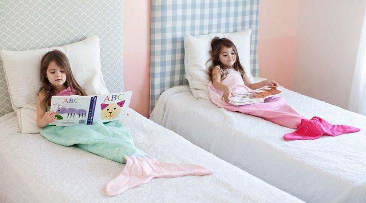 Image of Light Pink Mermaid Tail Blanket Bag