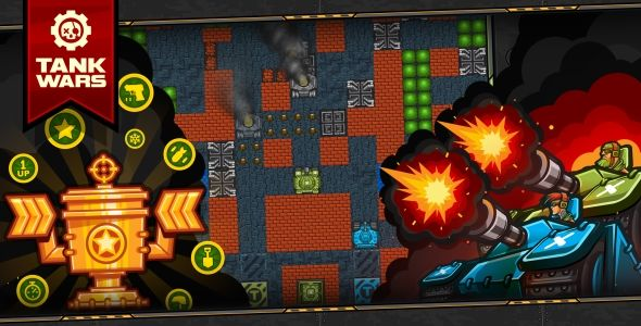 Tank Wars Html5 Game 120 Levels Level Constructor Mobile