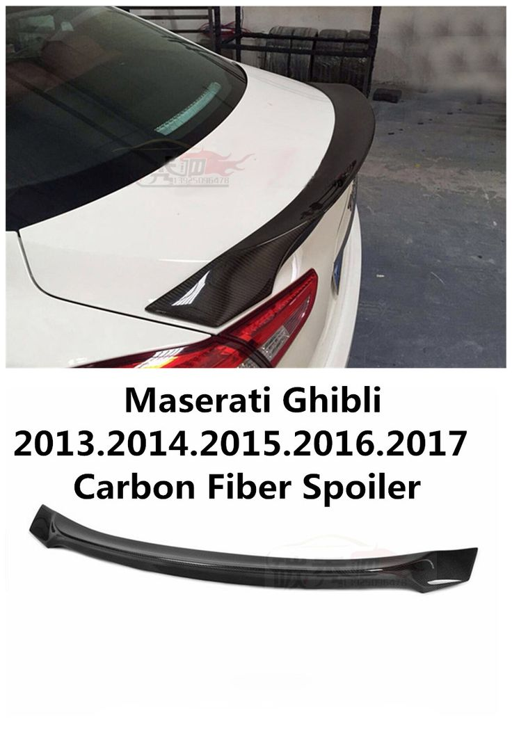 For Maserati Ghibli 2013.2014.2015.2016.2017 Carbon Fiber Spoiler High Quality Wing Spoilers Trunk Lid Diffuser Car Modification #Affiliate