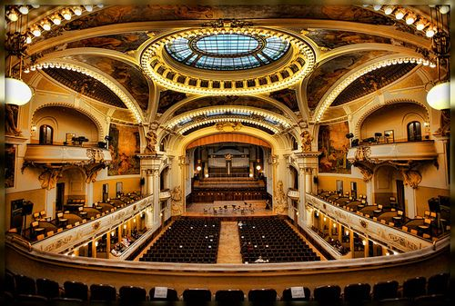 I sang here!! SMETANA HALL, Prague