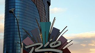Rio Hotel and Casino -  The Rio All-Suite Hotel and Casino Las Vegas is a great place to visit, and is located near the Vegas Strip, with a free shuttle service. After an exciting time in the 120,000 square foot casino, visitors can relax at the spa, or one of the four pools available.