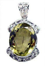 excellent Lemon Quartz 925 Sterling Silver Yellow Pendant india US gift