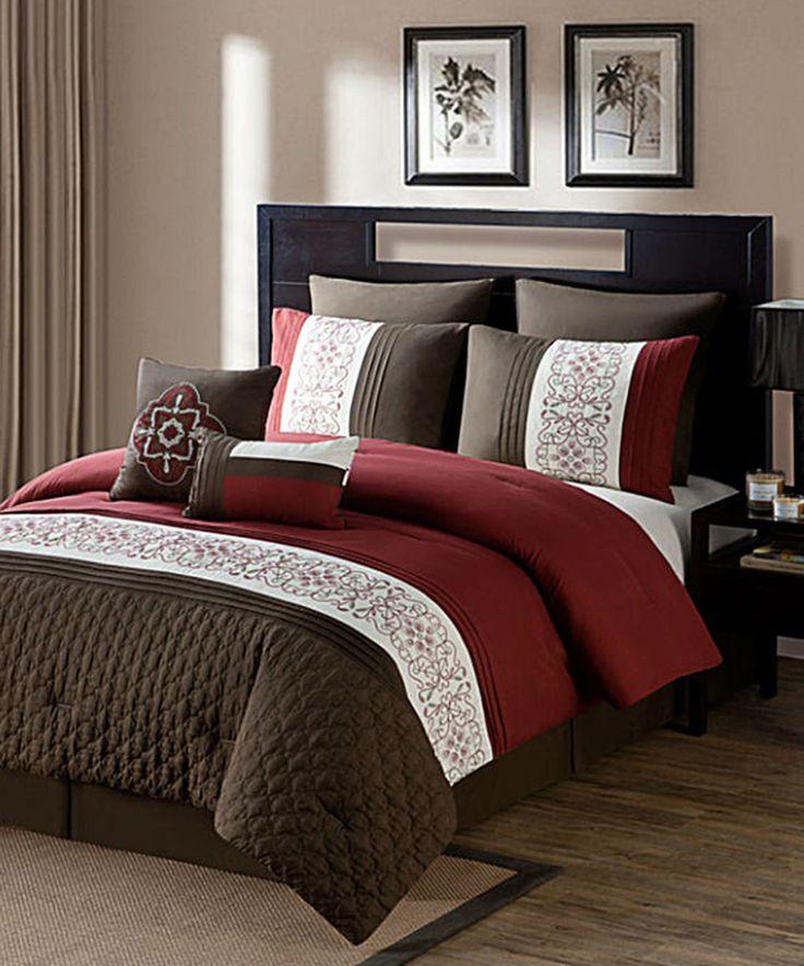 Look what I found on #zulily! Burgundy Tursi Comforter Set by Luxury Home #zulilyfinds