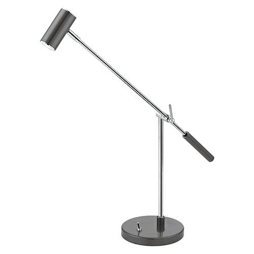 Lauria 1 Glossy White and Chrome 5-Inch LED Table Lamp