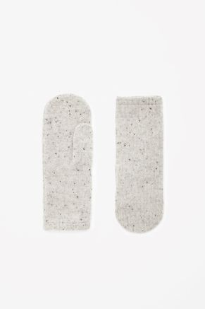 Speckled cashmere mittens