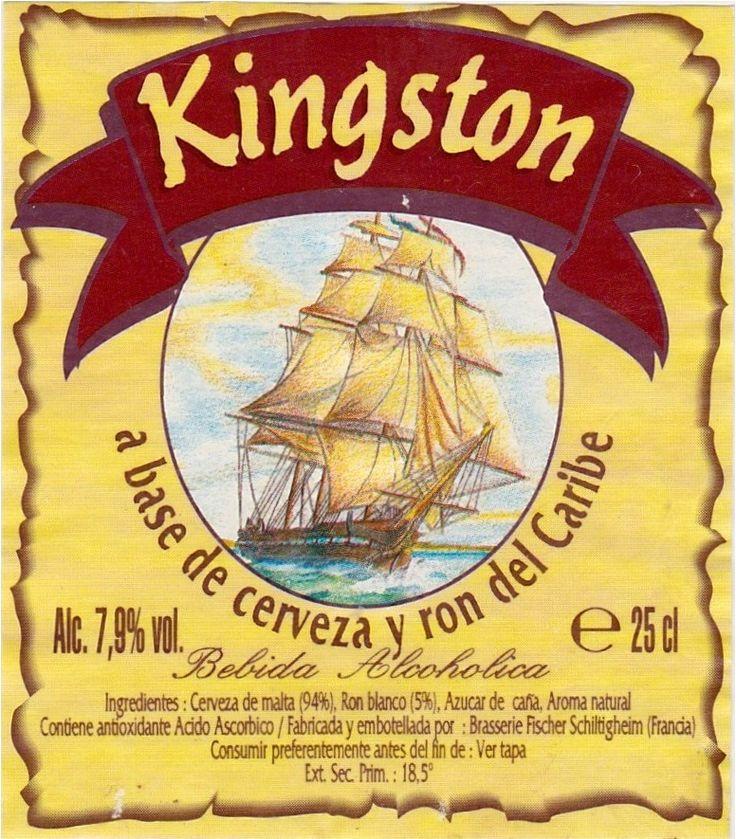 Kingston, Ale aromatizada 7,9% ABV (Brasserie Fischer Schiltigheim, Francia) #label