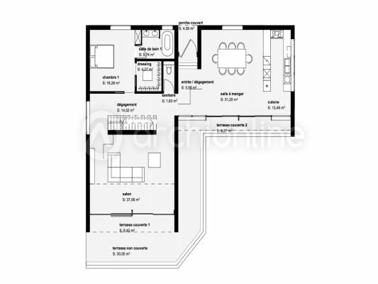 17 best ideas about plan de villa on pinterest for Plan de construction maison moderne