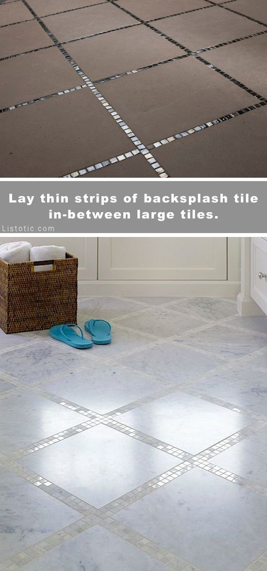 Beautiful and creative tile ideas for kitchen back splashes, master bathrooms, small bathrooms, patios, tub surrounds, or any room of the house!