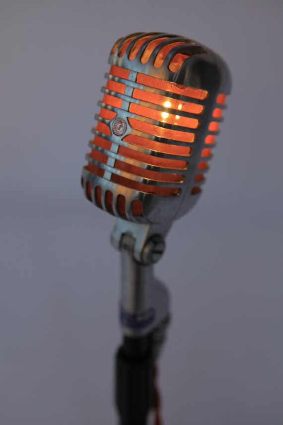 VINTAGE SHURE 55 Microphone Lamp by RAPHAELCREATIONS on Etsy