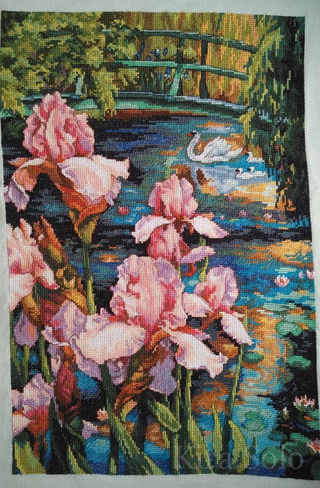 #Схема_вышивки от #Дименшенс #Ирисы и #Лебедь #Dimensions 35264 - Iris and Swan   ✅http://stitchlike.ru/sjrb #stitchlike_dimensions
