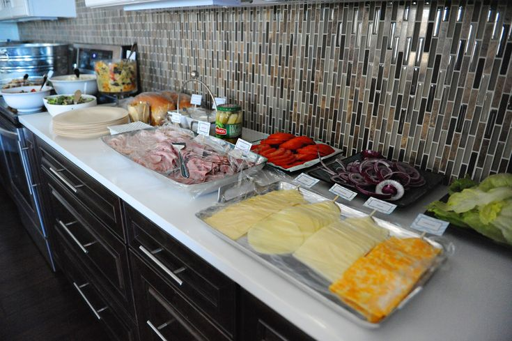 Sandwich bar and salads for baby shower this is a wonderful idea!!! (Jessica Mansouri-Jeffries
