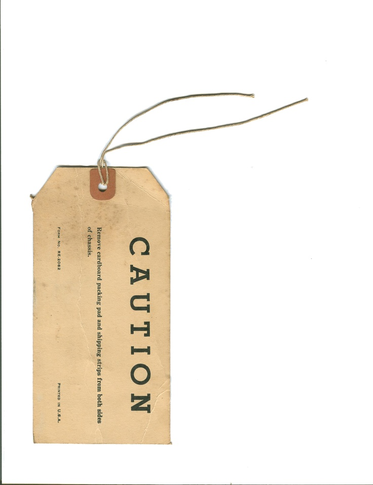 (c) Melissa Stuebing    stock paper tag