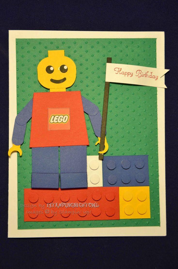 1stampingnightowl: LEGO Birthday Card