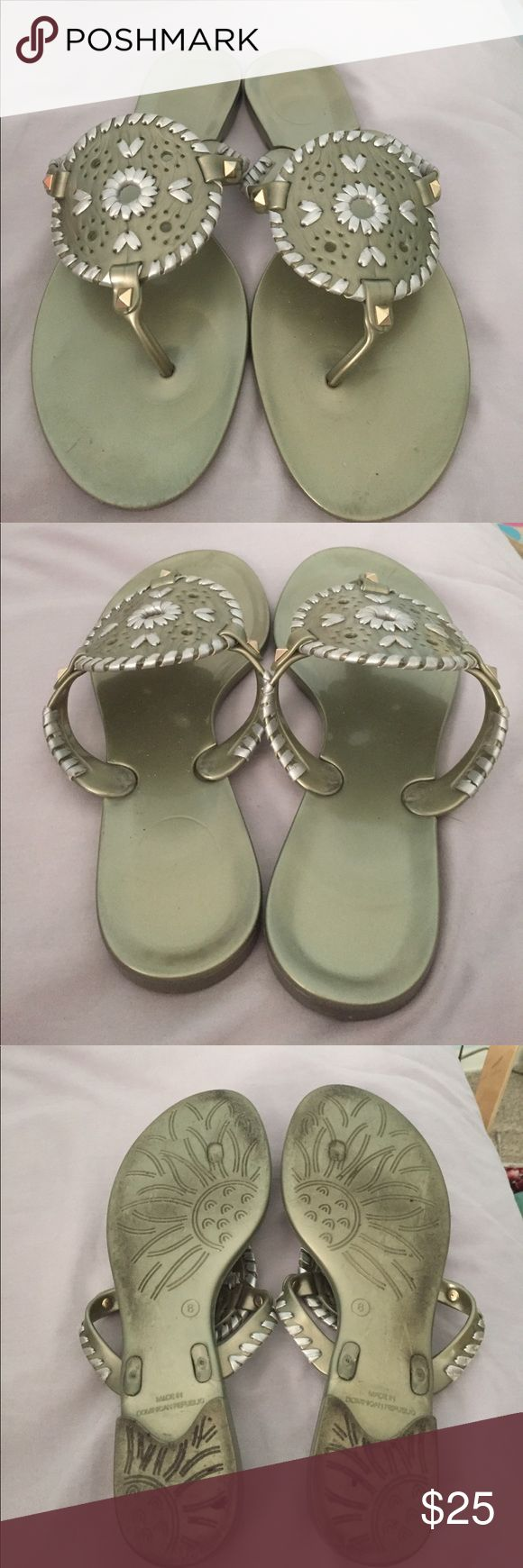 Jack Rogers sandals Jack Rogers sandals, worn a couple of times but otherwise great condition, jelly sandals Jack Rogers Shoes Sandals