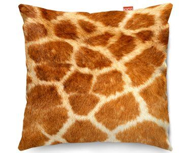 Giraffe Print Cushion - great for zoo or animal themed children's bedrooms or to fit in with warm, African decor. £34.99