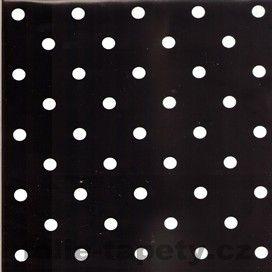 Samolepící fólie puntíky černé šíře 45cm - dekor 912