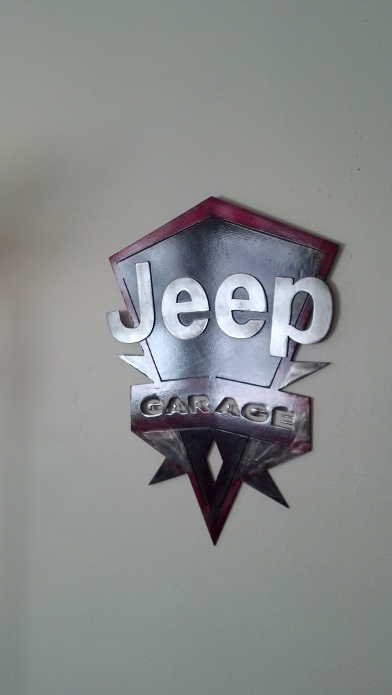 Jeep Garage Sign by MetalArchitect on Etsy, $50.00