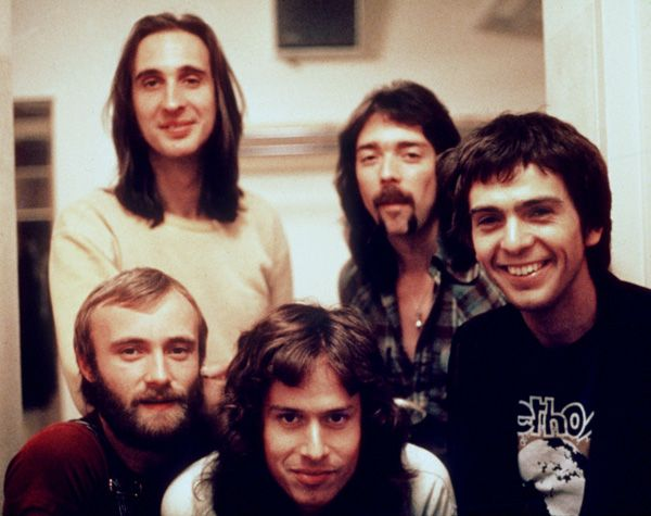 Genesis from their early prog rock years. The classic lineup.
